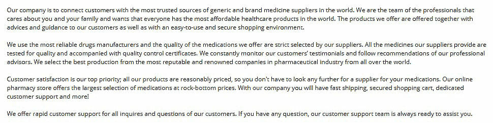 about safepillstore pharmacy reviews